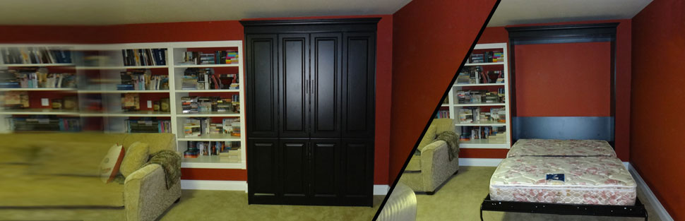black wall bed